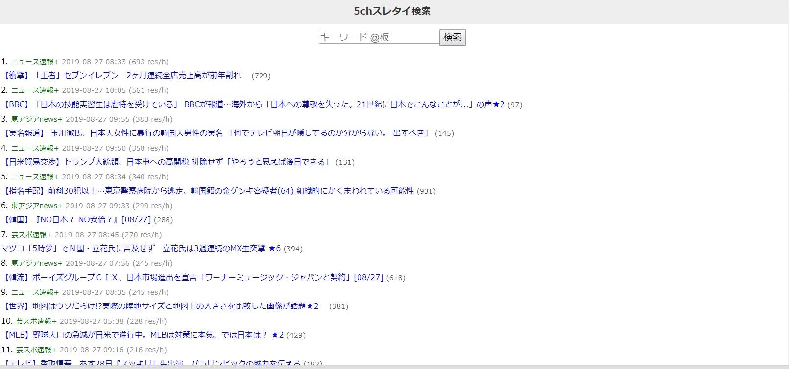 5 ちゃんねる スレタイ 検索 Switch - 5ちゃんねるスレタイ検索